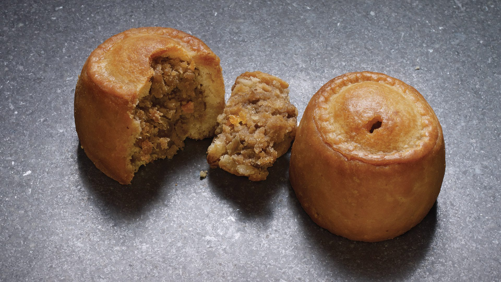 Mini Pork & Pickle Pork Pies